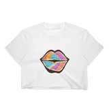 Women's Crop Top | RAINBOW LIPS