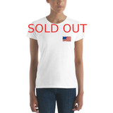 Women's short sleeve t-shirt | USA FLAG