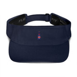 BEER NAVY BLUE VISOR | Keep the sweat out of your eyes and protect them from the blinding sun with a beautifully embroidered visor.
