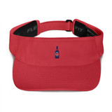 BEER RED VISORKeep the sweat out of your eyes and protect them from the blinding sun with a beautifully embroidered visor.