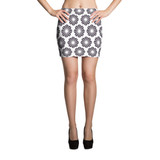 Mini Skirt | BLACK & WHITE FLOWERS