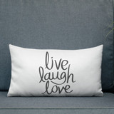 Premium Pillow | LIVE LAUGH LOVE