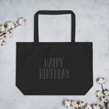 Large organic tote bag | HAPPY B-DAY