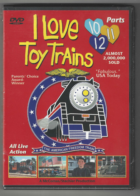 I Love Toy Trains DVD Parts (10-12) Front