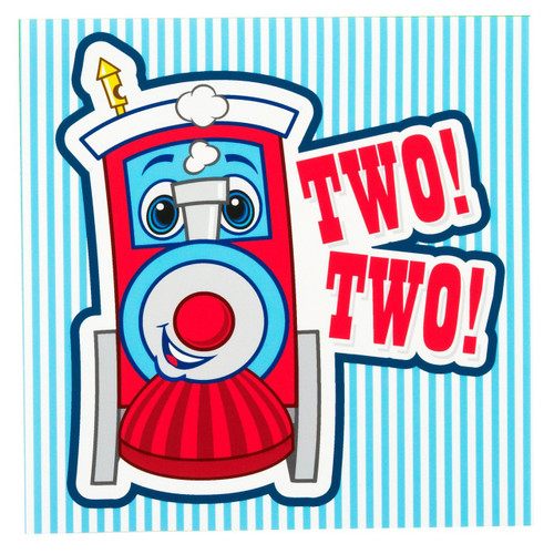 Two-Two Train 2nd Birthday Lunch Napkins (16 ct)