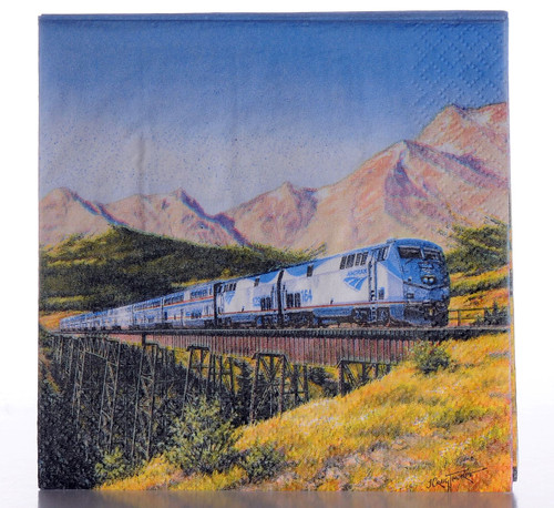 Amtrak Train Luncheon Napkins