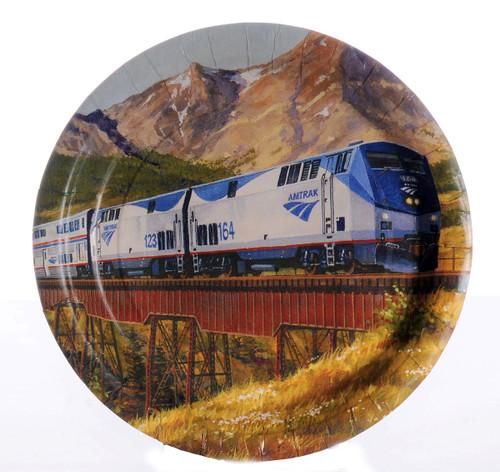 Amtrak Train Party Dessert Plates