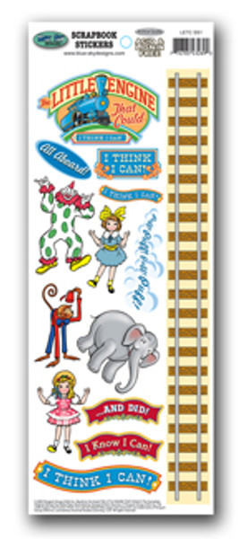 Little Engine That Could Scrapbook Stickers