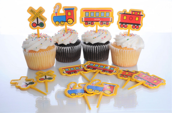 Railroad Theme Cupcake Picks (12 ct)