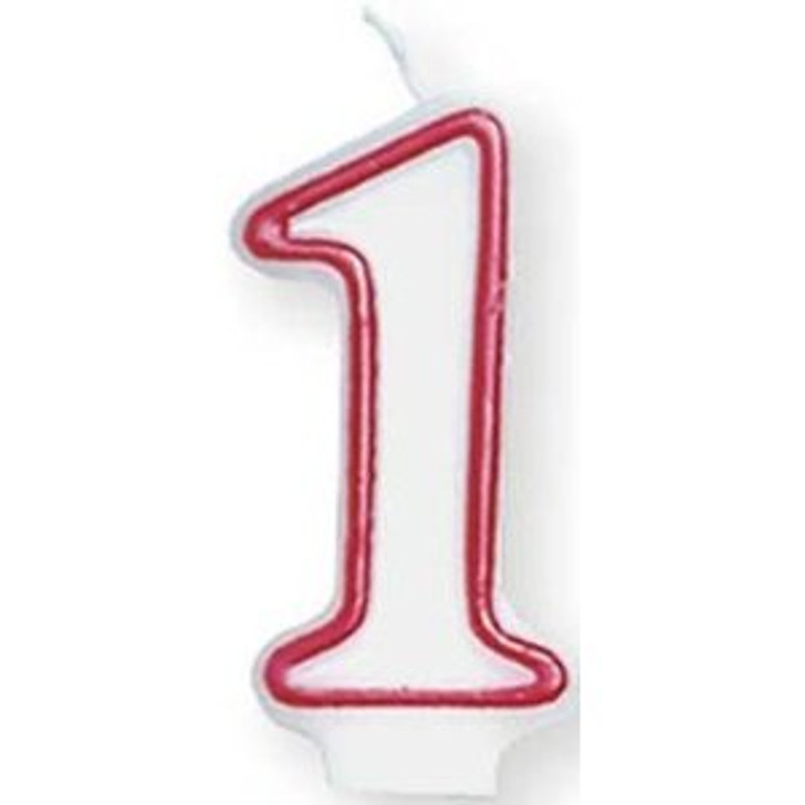 Number 1 (1st) Birthday Candle