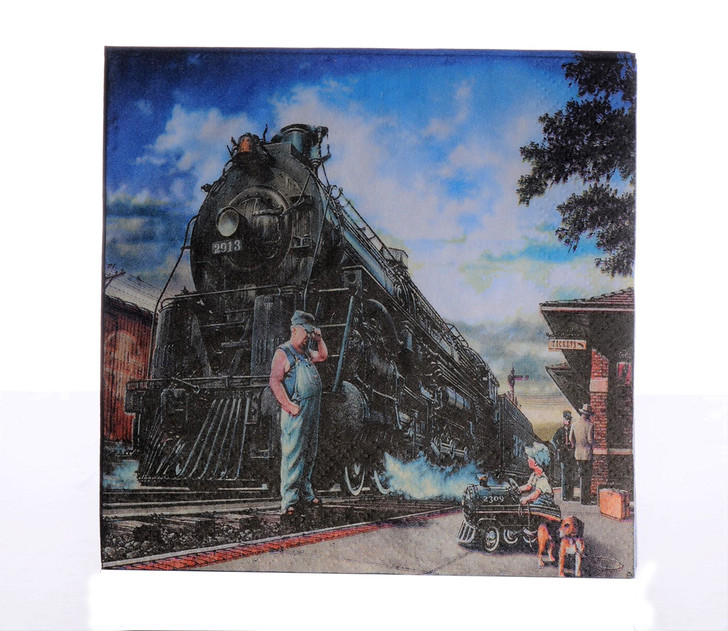 Whistle Stop Train Party Lunch Napkins