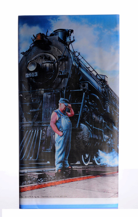 Whistle Stop Train Party Table Cover