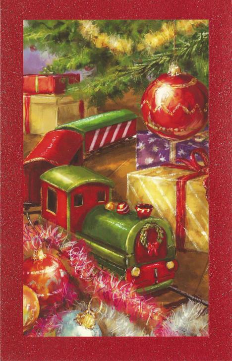 Train Theme Holiday Greeting Card