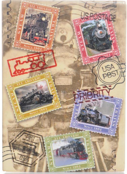 U.S. Passport Postage Stamp  Train Icon Magnet