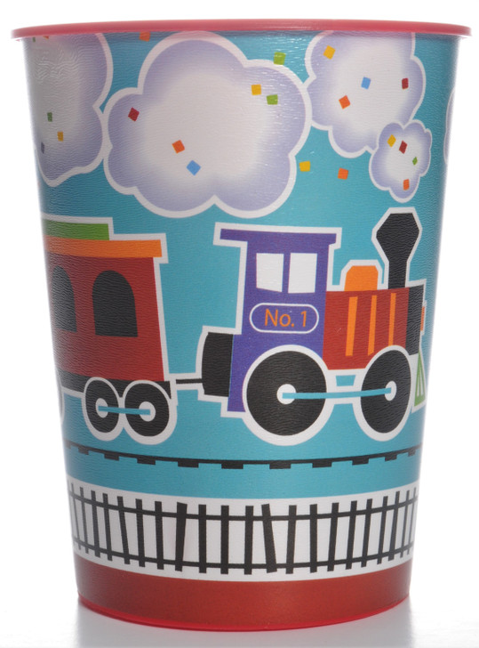 All Aboard Train Party 16oz Plastic Tumbler Cup