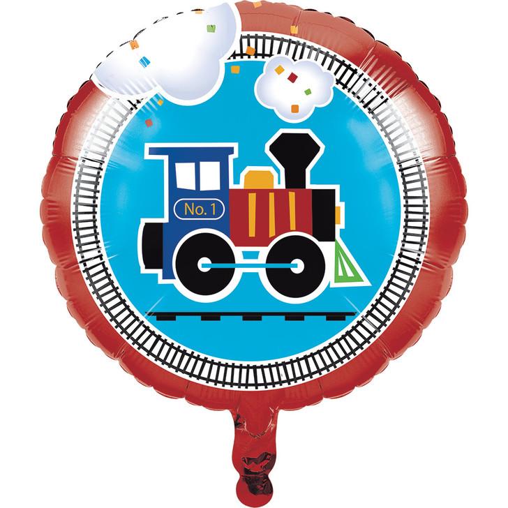 All Aboard Train Party Foil Balloon