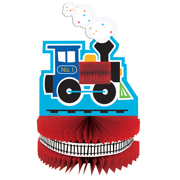 All Aboard Train Party Honeycomb Centerpiece