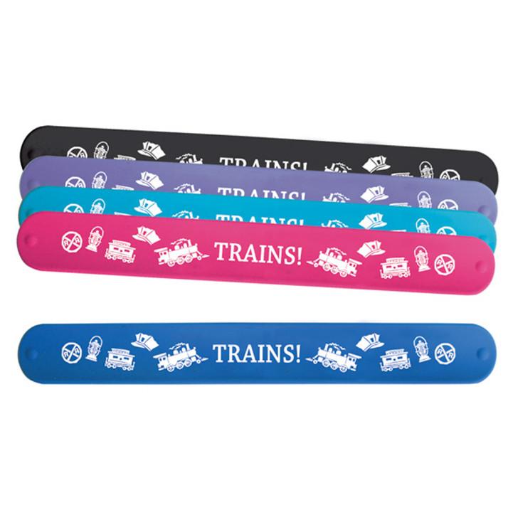 Train Icon Slap Rubber Bracelet