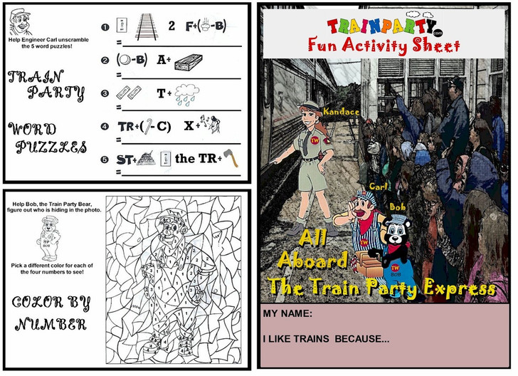 Train Theme Activity Worksheet Frontside
