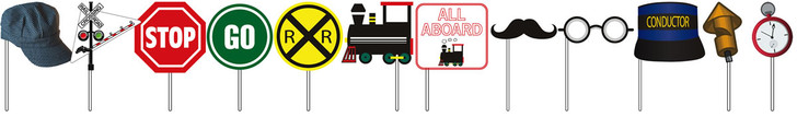Railroad Crossing Trainparty Photo Props