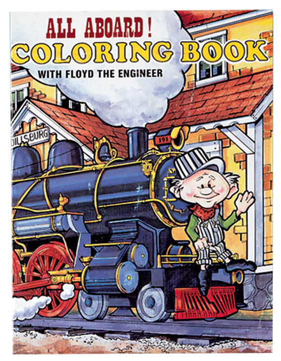 All Aboard!! Coloring Book With Floyd The Engineer
