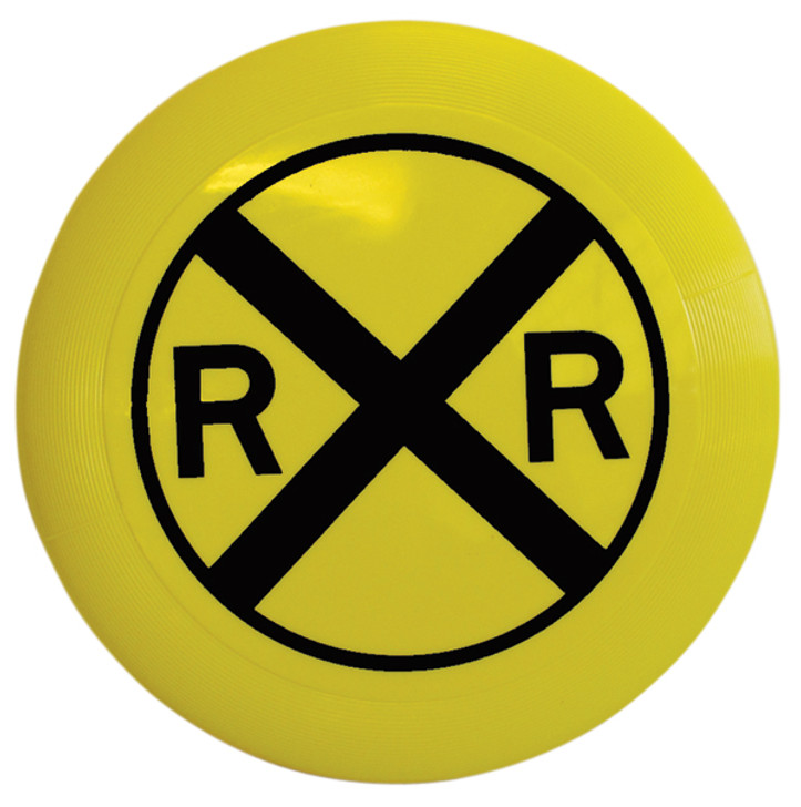 Railroad Crossing Sign Flying Disc