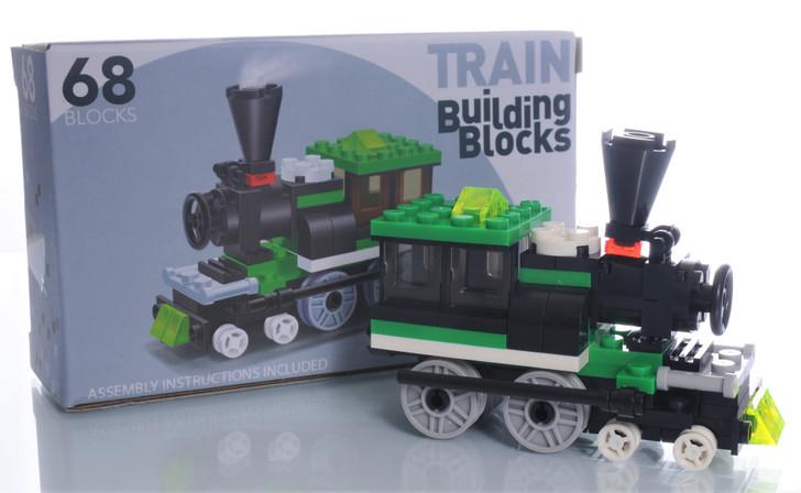 Train Building Blocks 68 Piece Engine
