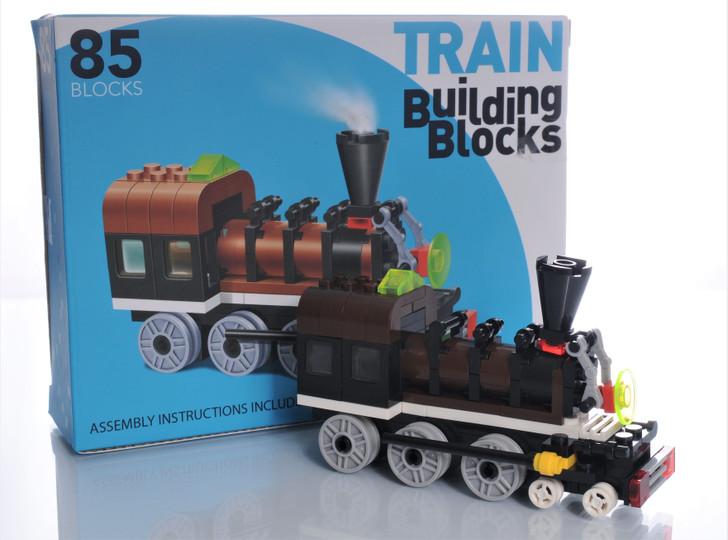 Train Building Blocks 85 Piece Engine