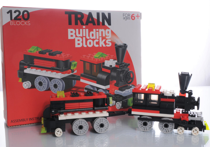 Train Building Blocks 120 Piece Engine and Car