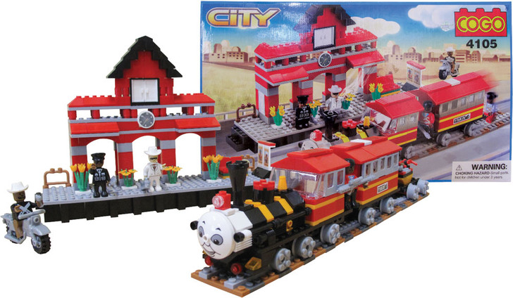 Happy Train and Station 464 Piece Building Block Set