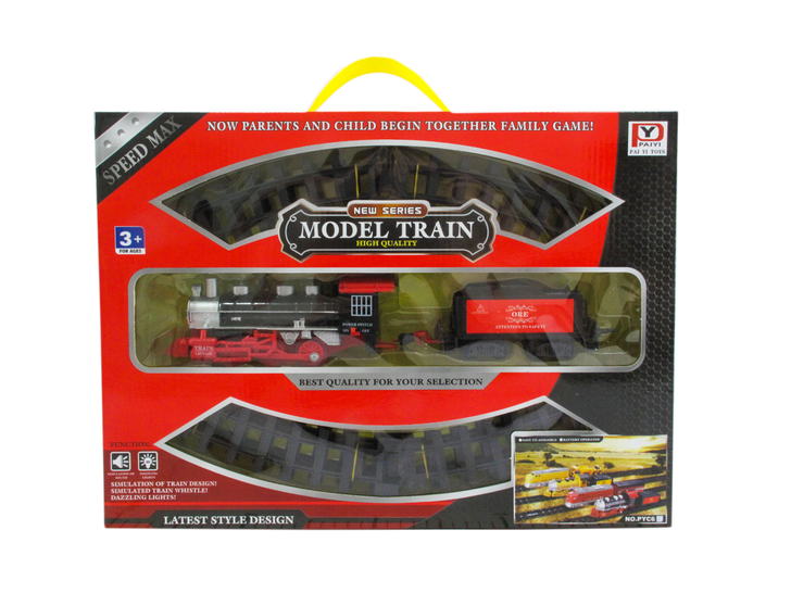 Steam Engine Battery Operated Train Set (18 pieces)