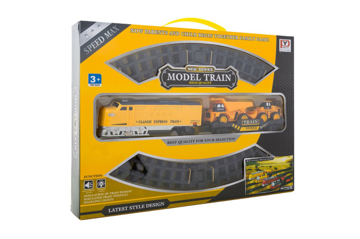 Diesel Battery Operated Train Construction Theme Set (24 pieces)