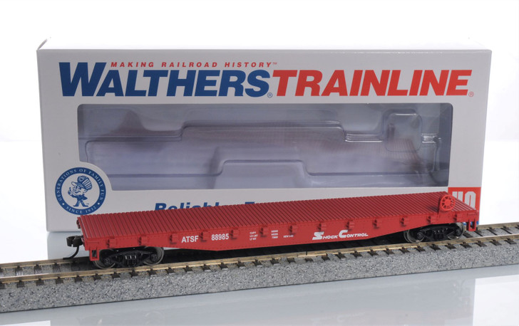 Walthers Trainline HO Scale Santa Fe Flat Car