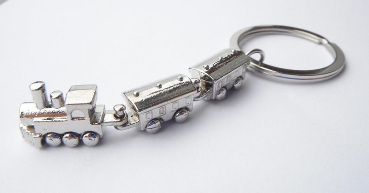 Steam Train Keychain