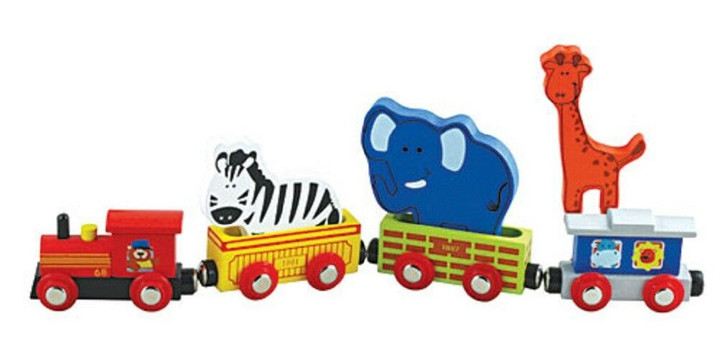 Lil' Chugs Wooden Animal Train 7-piece Set