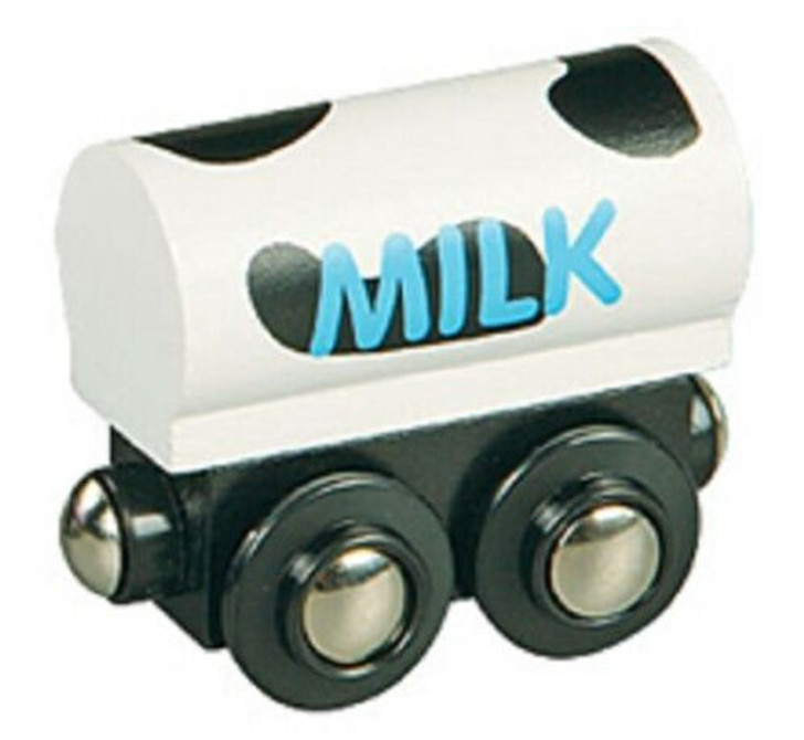 Li'l Chugs Wooden Trains Milk Freight Tank Car