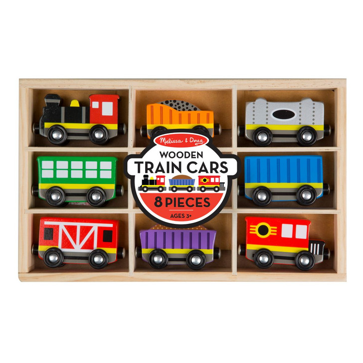 Wooden Train Cars (8 pc)