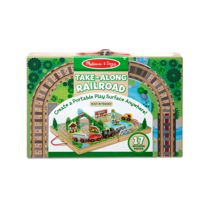 Take-Along  Wooden Railroad (17 pc)