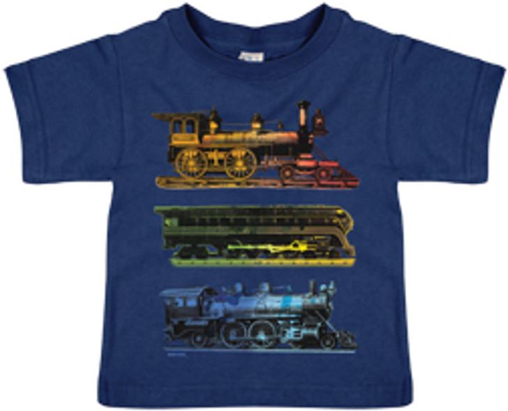 Watercolor Trains Shirt-3T