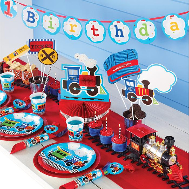 All Aboard Train Dizzy Danglers -5ct