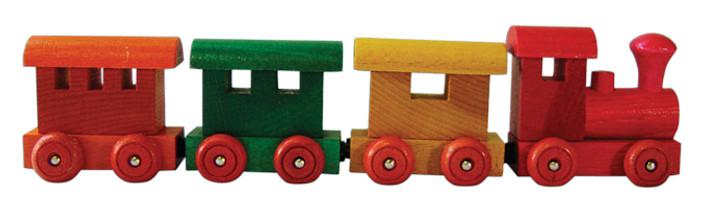 4 Piece Wooden Magnetic Train Set