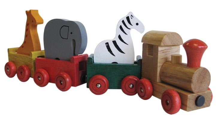 Wooden Magnetic Zoo Animal Train Set