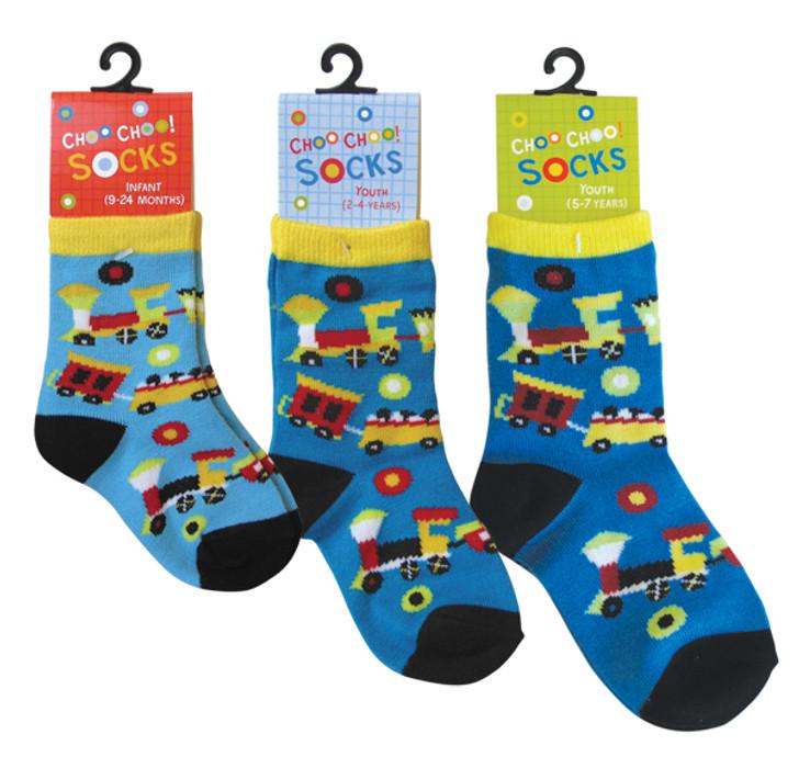 Choo Choo Train Socks Youth (9-24months)
