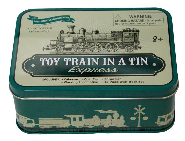 Toy Train In A Tin Box