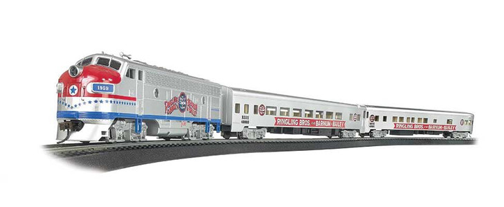 Ringling Bros. & Barnum & Bailey Greatest Show on Earth Special - Standard DC -- EMD F7 Locomotive, 2 Passenger Cars, Track Oval, Power Pack