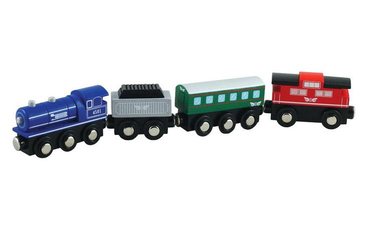 Li'l Chugs - Wooden Passenger Express Train Set 4pc