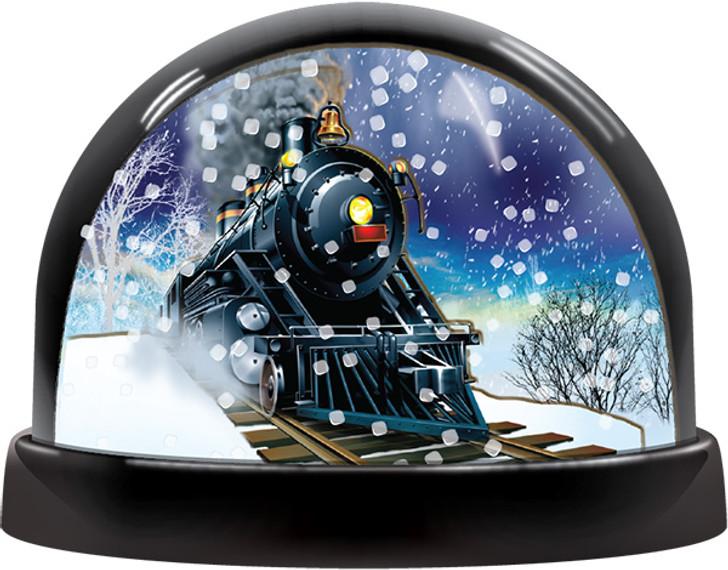 2 Panel Train Snow Globe