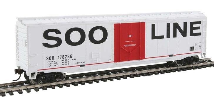 50' Plug-Door Boxcar - Ready to Run -- Soo Line