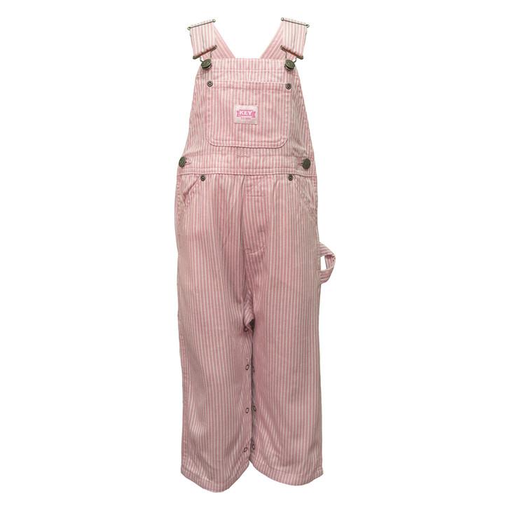 Key Kid's Pink Stripe Bib Overall Size 5