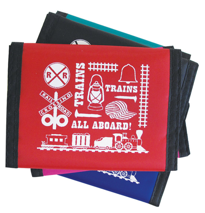 Train Icons Wallet Nylon Velcro